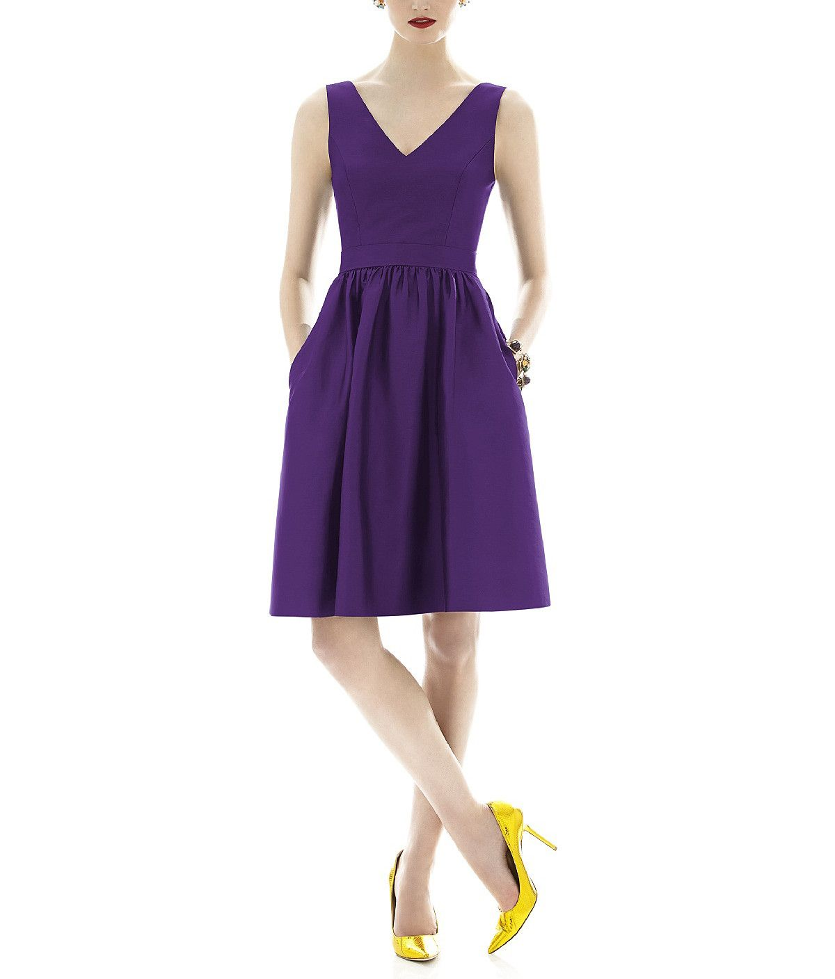 Deep purple Bridesmaid dress by Alfred Sung Style D638 available on ...