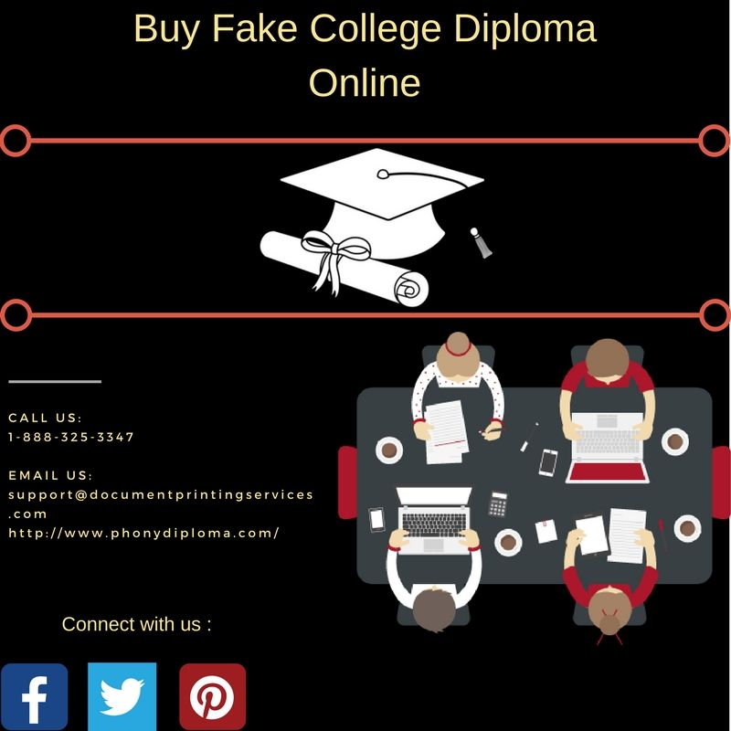 Are you seeking for #Fake #College #Diploma? We are expert in making - copy university diploma templates