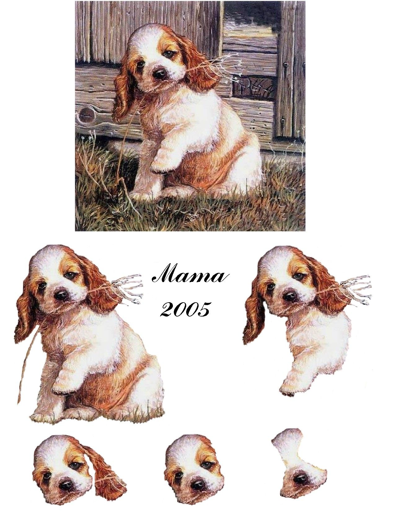Cocker Spaniel Welpen Cocker Pup 3d Decoupage Sheets Card