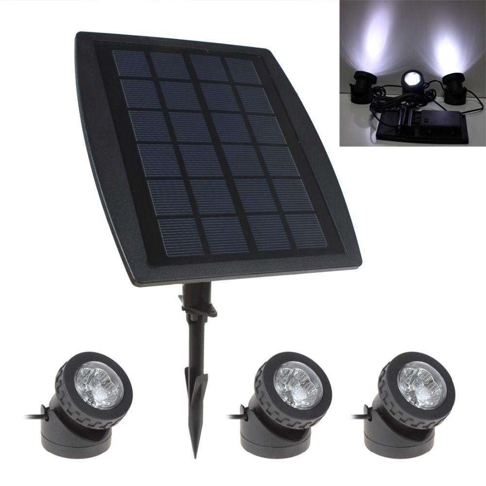 Hot Sale Bsv Sl318 3 X 6 White Light Leds Waterproof Adjustable Solar Powered Garden Lamp 1 X Solar Panel Solar Powered Lights Garden Lamps Solar Lights