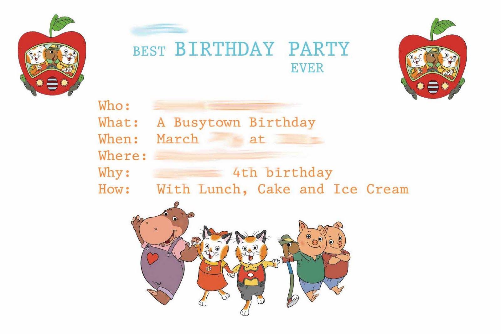 Love The Use Of 5w S From Busytown Mysteries Invite