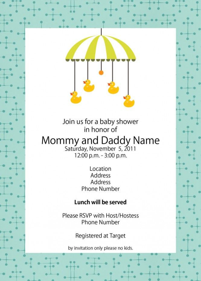 Baby Shower  Modern Baby Shower Invitations Templates