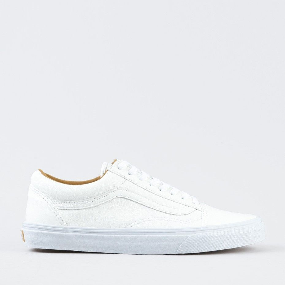 Kengät - Old Skool Premium Leather True White