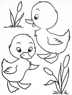Baby Duck Coloring Pages Coloring Pages Embroidery Patterns