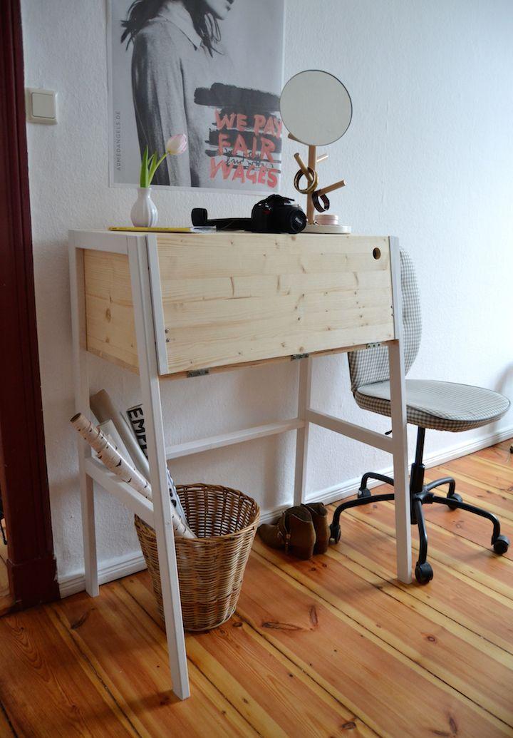 awesome self made desk perfect work evironment pinterest schreibtisch m bel und tisch. Black Bedroom Furniture Sets. Home Design Ideas