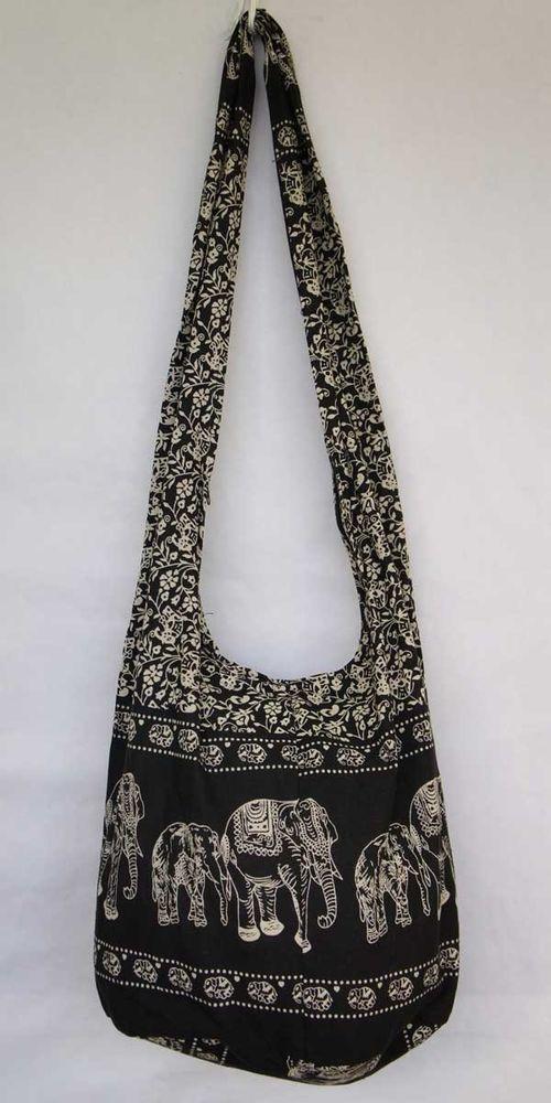 Bags   Handbag Trends   BLACK Elephant HOBO BAG YAAM Sling PURSE Shoulder  HIPPIE CROSSBODY messenger bceccc095a
