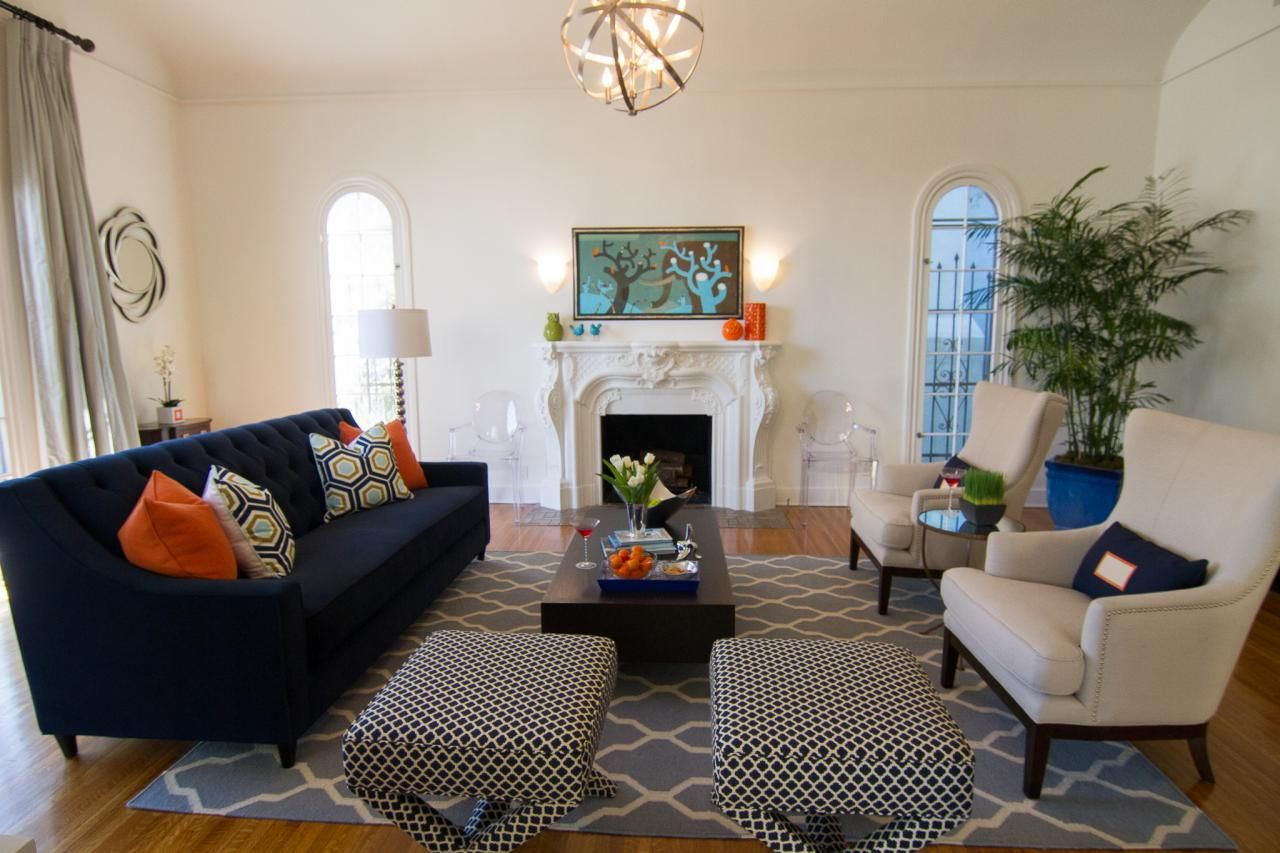 Captivating Bold Colors And Mixed Patterns Make This Eclectic Living Room Feel Vibrant  And Lively. An