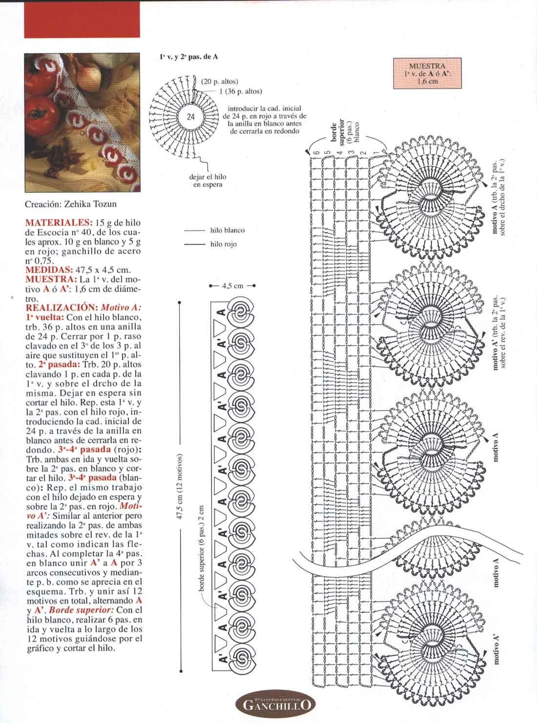 Gráficos / Patrones De Pulseras Ganchillo Crochet | Barrados de ...