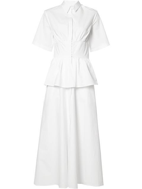 ROSIE ASSOULIN front placket flared dress.  rosieassoulin  cloth  dress d7b0605c8