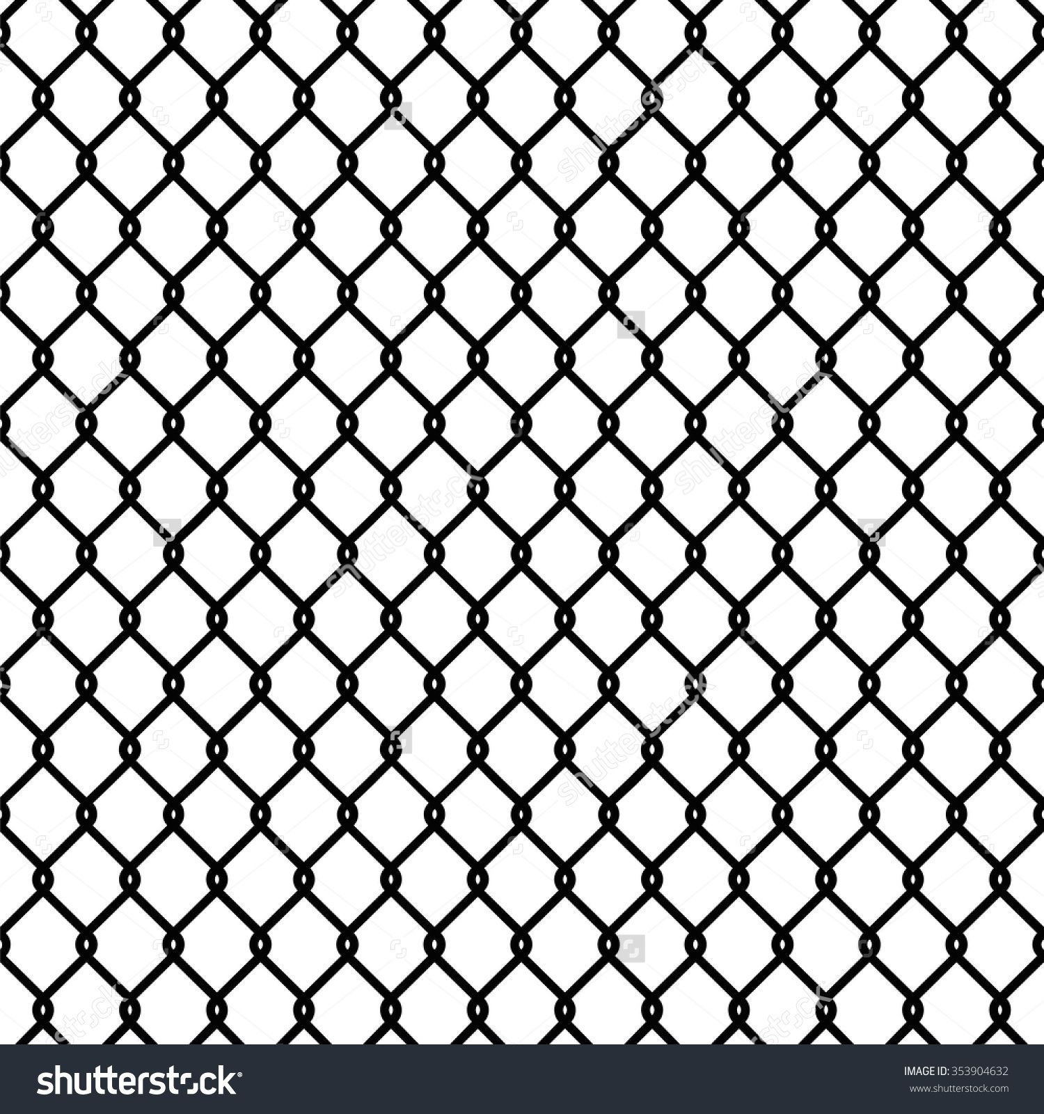 Broken Chain Link Fence Vector stock-vector-seamless-chain-link-fence-pattern-texture-wallpaper