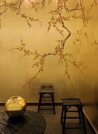 gold chinoiserie wallpaper - Google Search