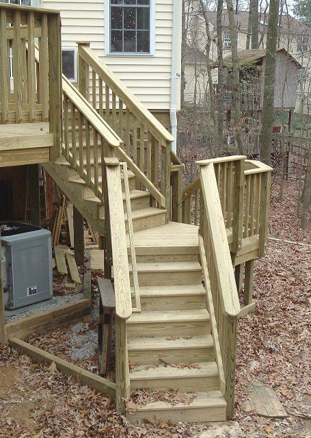 deck stairs hoeser room addition deck stairs deck design deck plans - Deck Stairs Design Ideas