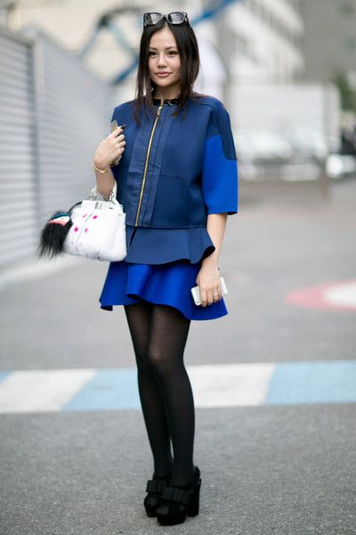 artsy shiksa (artsy is more serious, shiksa is more cute) - Paris Fashion Week Spring 2014 Attendees Pictures - StyleBistro