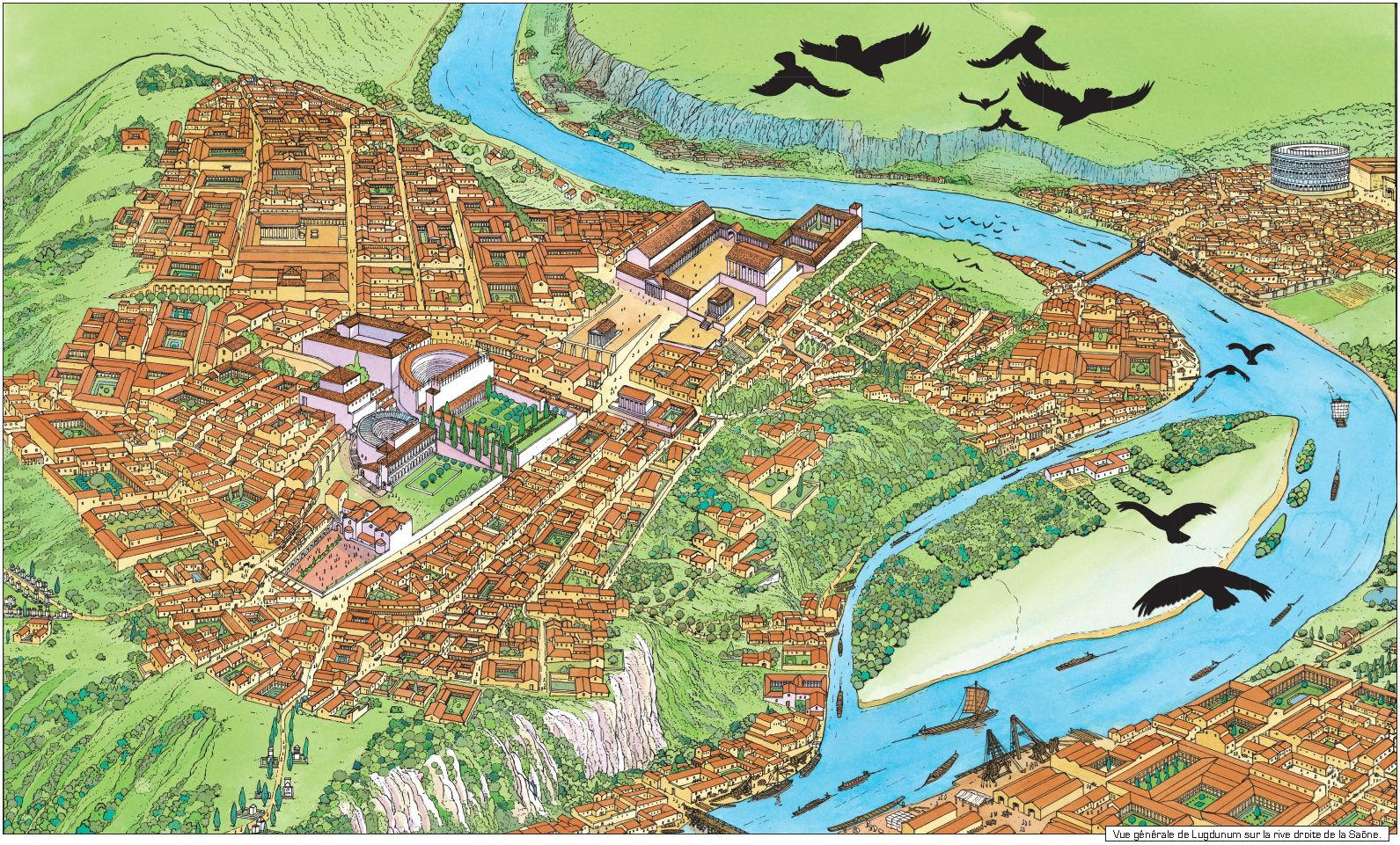 Roman Lugdunum The Precursor Of Modern Day Lyon France Ancient Architecture Historical Architecture Ancient Cities