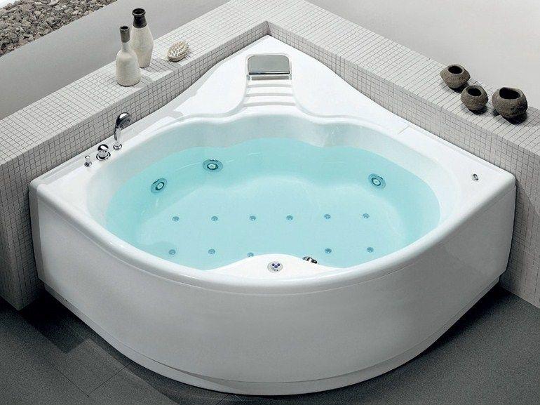 vasca da bagno angolare idromassaggio in acrilico armony plus by