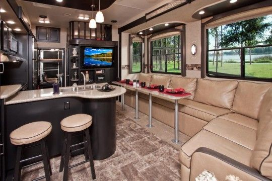 Love this - Toy haulers with front living room ...