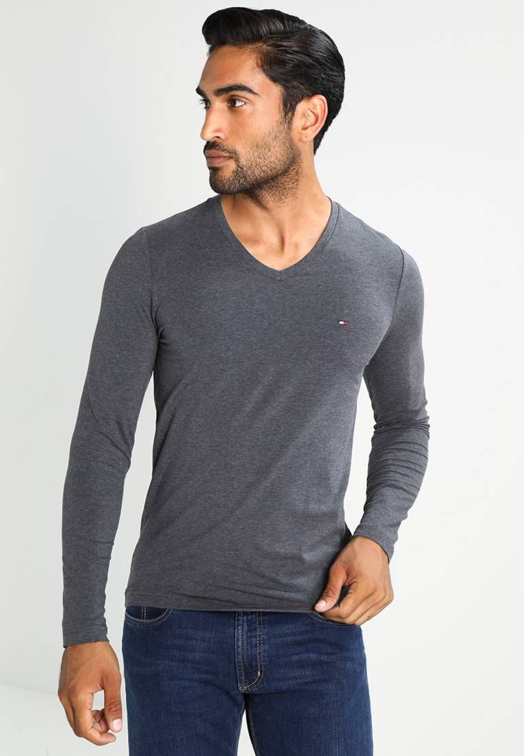 d8f8c3a0c2a Tommy Hilfiger. STRETCH SLIM FIT - Camiseta manga larga - grey. Largo de la