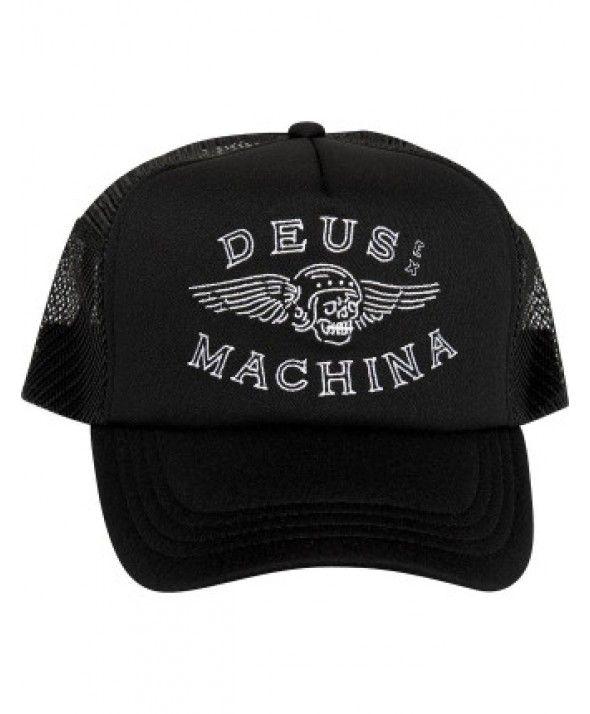 38133273249 DEUS Curtis Trucker cap - Black Deus Ex Machina