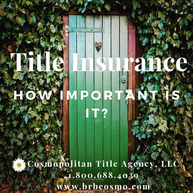 Title Insurance Title insurance, Title, Cosmopolitan