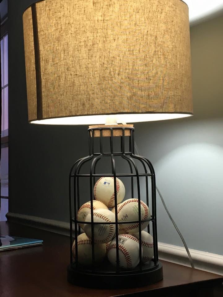 Cute Baseball Lamp Vintage NurseryBaseball Bedroom DecorBaseball