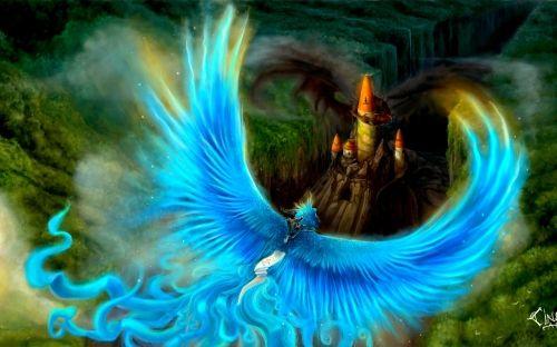 Images for gt blue phoenix bird hd desktop wallpaper ph nix ph nix und zeichen - Fenix bird hd images ...