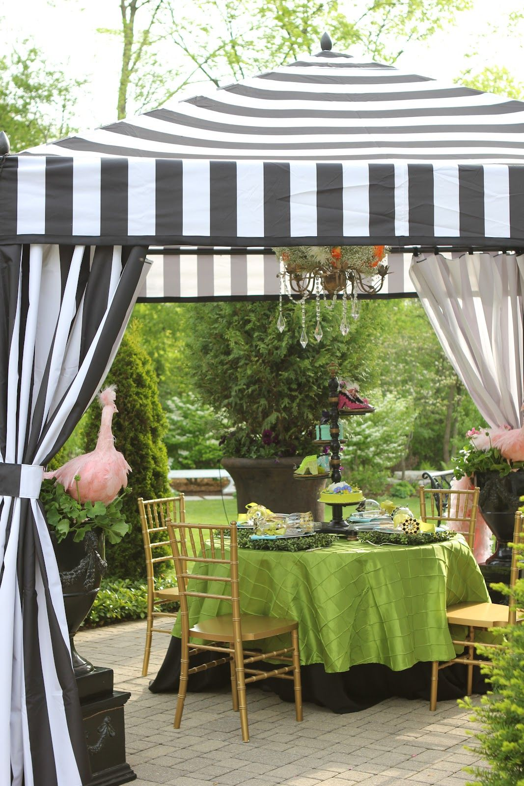 stripped outdoor tent - Google Search | Palm Beach Style | Pinterest ...