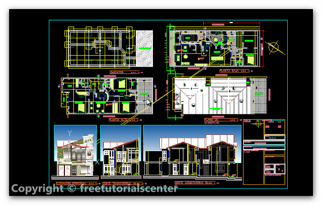 Dwg Download Single Family House Project Family House Model House Plan Architecture Details
