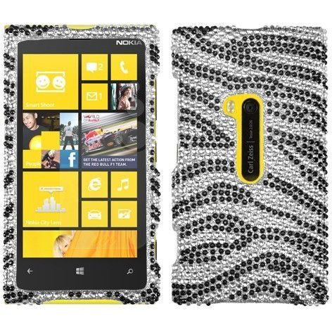 MYBAT Diamante Case for Nokia Lumia 920 - Black Zebra Skin