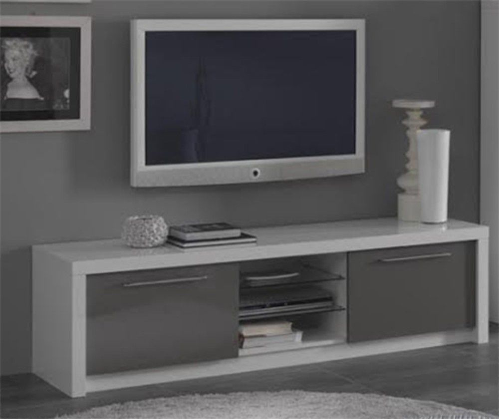99 Meuble Tv Gris Laque But With Images Flat Screen Tvs
