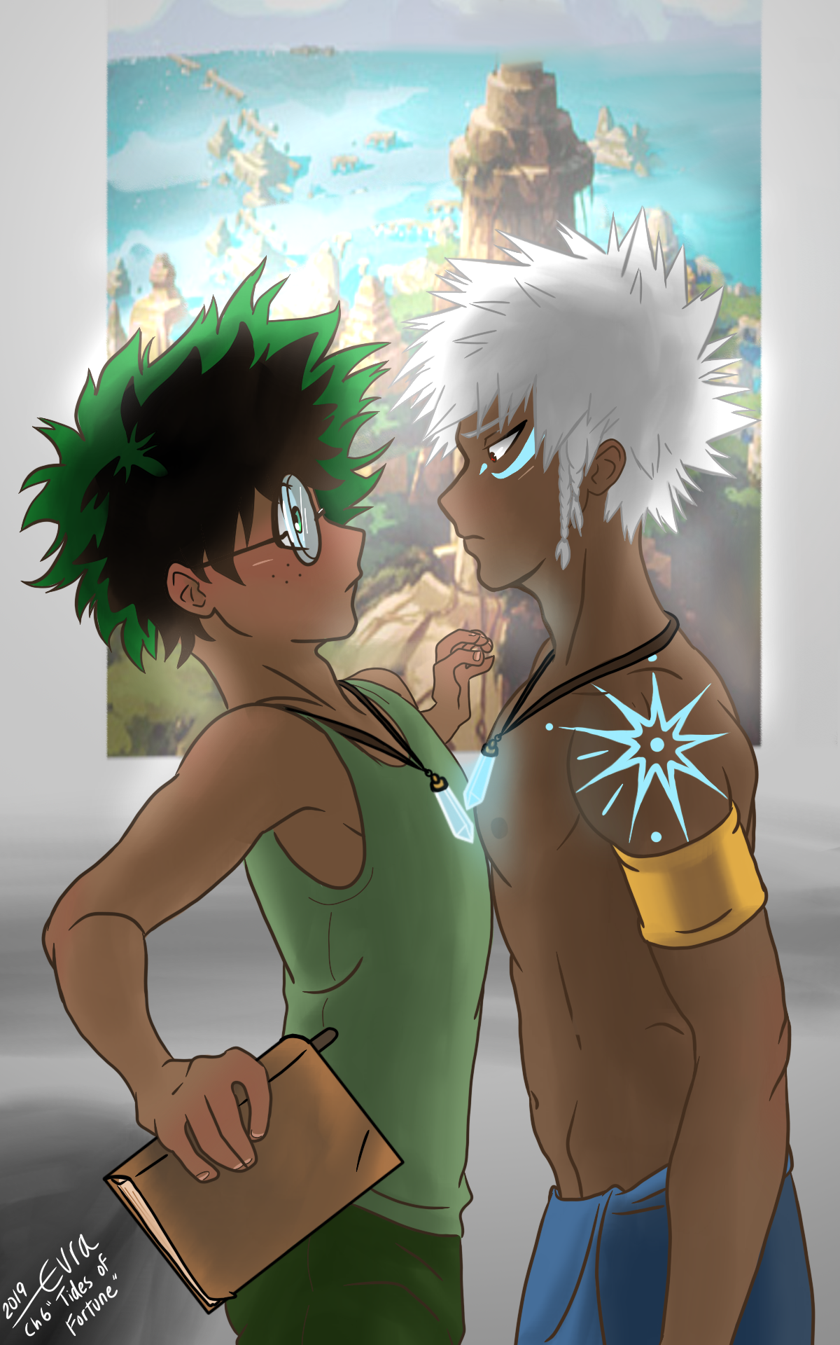 Atlantis Au By Tsukithewolf Titled Tides Of Fortune Is On Ao3 And Inspired This Art This Scene Is Taken From Chapter 6 Anime My Hero Boku No Hero Academia