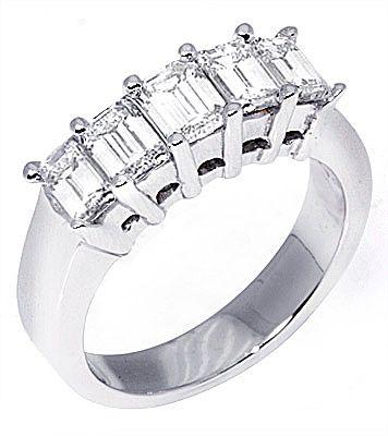 1.25 Carat Emerald Cut Diamond Ring