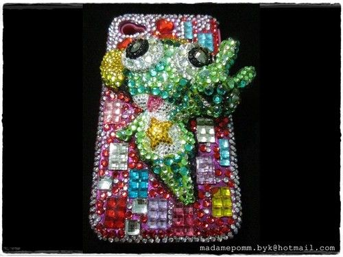 Keroro iphone case 4 /4S Crystal Handmade Hard Case Bling Bling phone accessorie