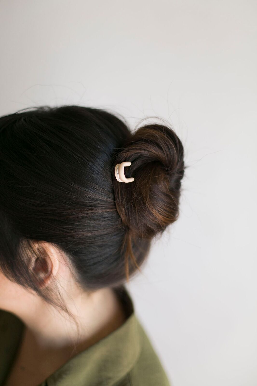 Simple Top Knot And A Leather Stitch Bun Pin Ca Makes
