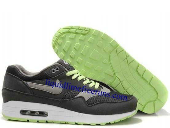 best service 7d624 7e938 Mens Nike Air Max 1 Anthracite Light Charcoal Light LQD White Shoes