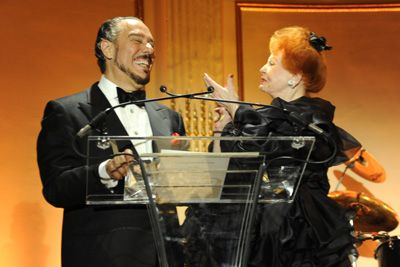 Film star Arlene Dahl congratulates her husband Marc Rosen