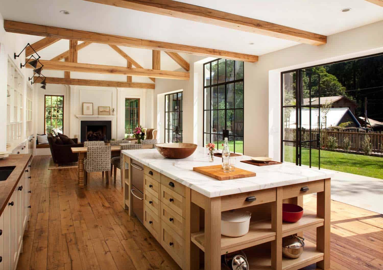 Chic modern farmhouse style in Mill Valley, California #modernfarmhousestyle