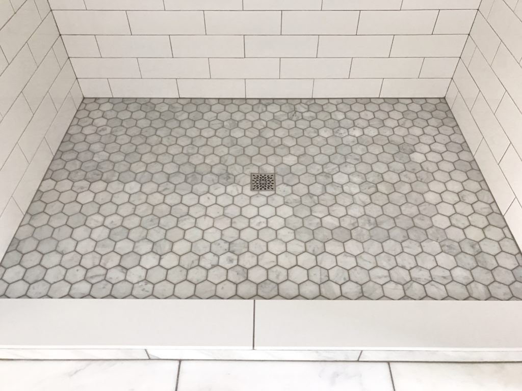 Building Our Forever Home Phase Three Shower Floor Tile