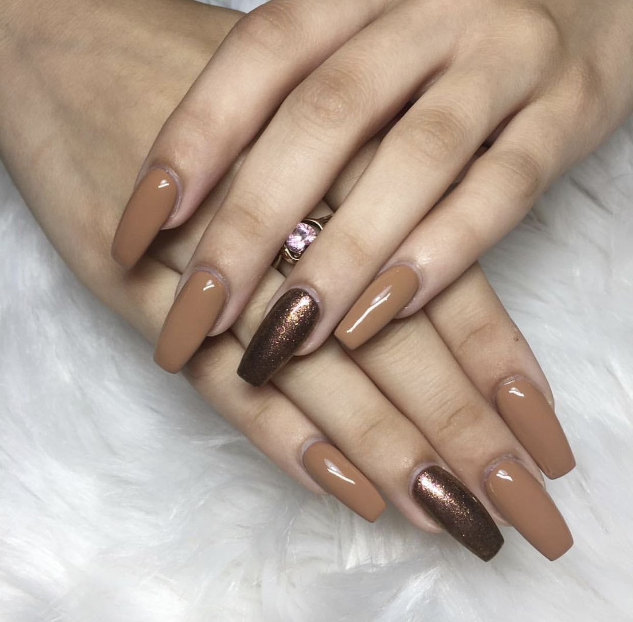 New set fall is here #fallcolors #coffin #acrylic #acrylicnails ...