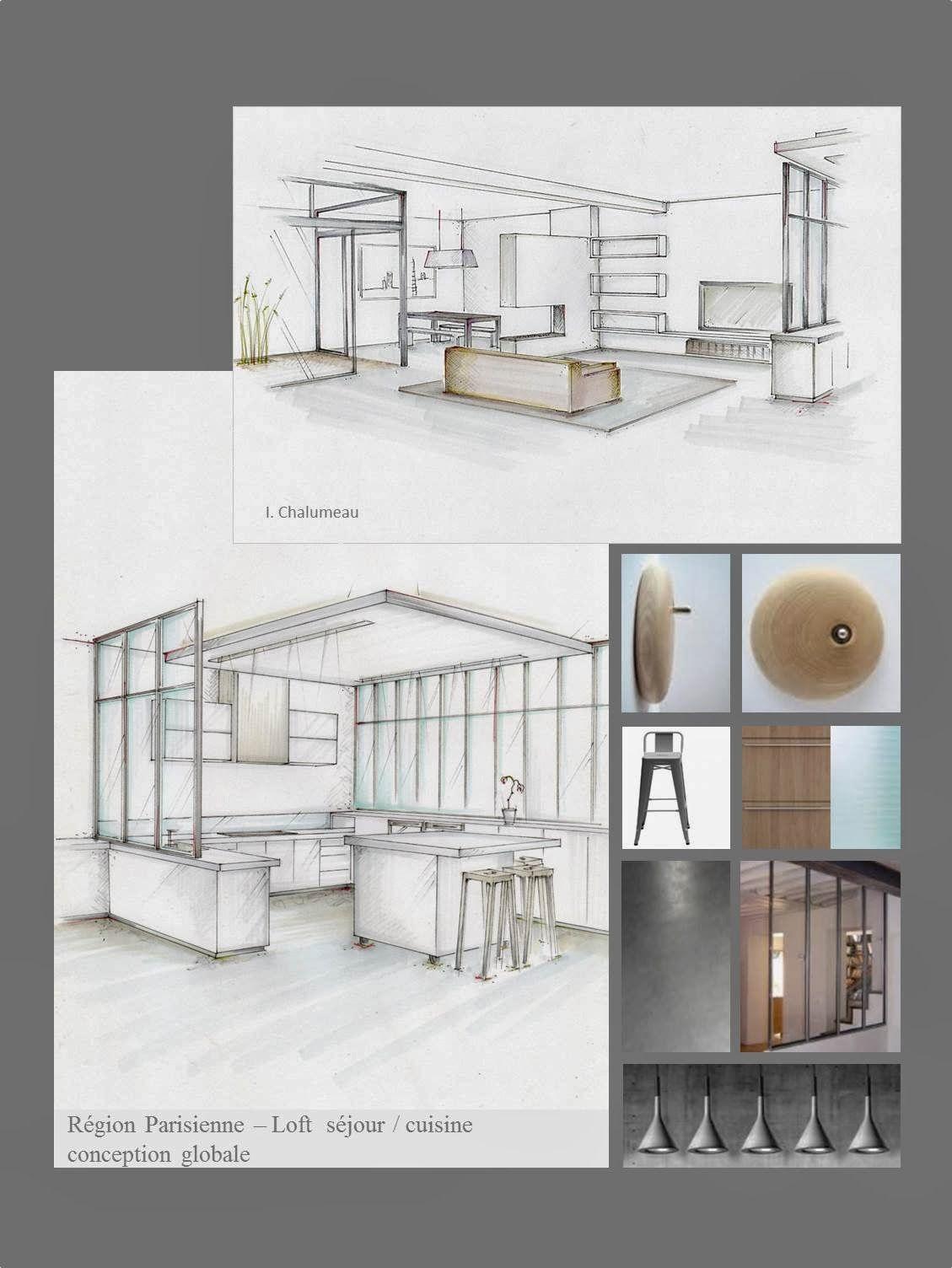 Conception graphique: Planches tendances, plans, perspectives ...