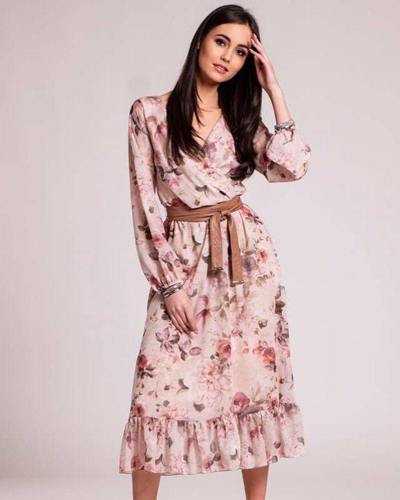 cd9078d269 Nowa kolekcja Piękna letnia sukienka w kwiaty z falbaną rozmiary 34-40  NOBOCO Concept Nowa
