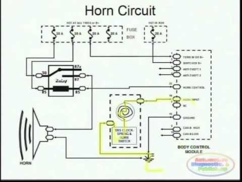 Horns & Wiring Diagram Electrical wiring diagram, Repair