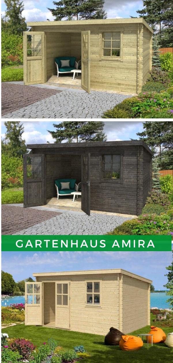 Lasita Maja Gartenhaus Amira 272 1002522 In 2020 Gartenhaus Gartenhaus Pultdach Garten