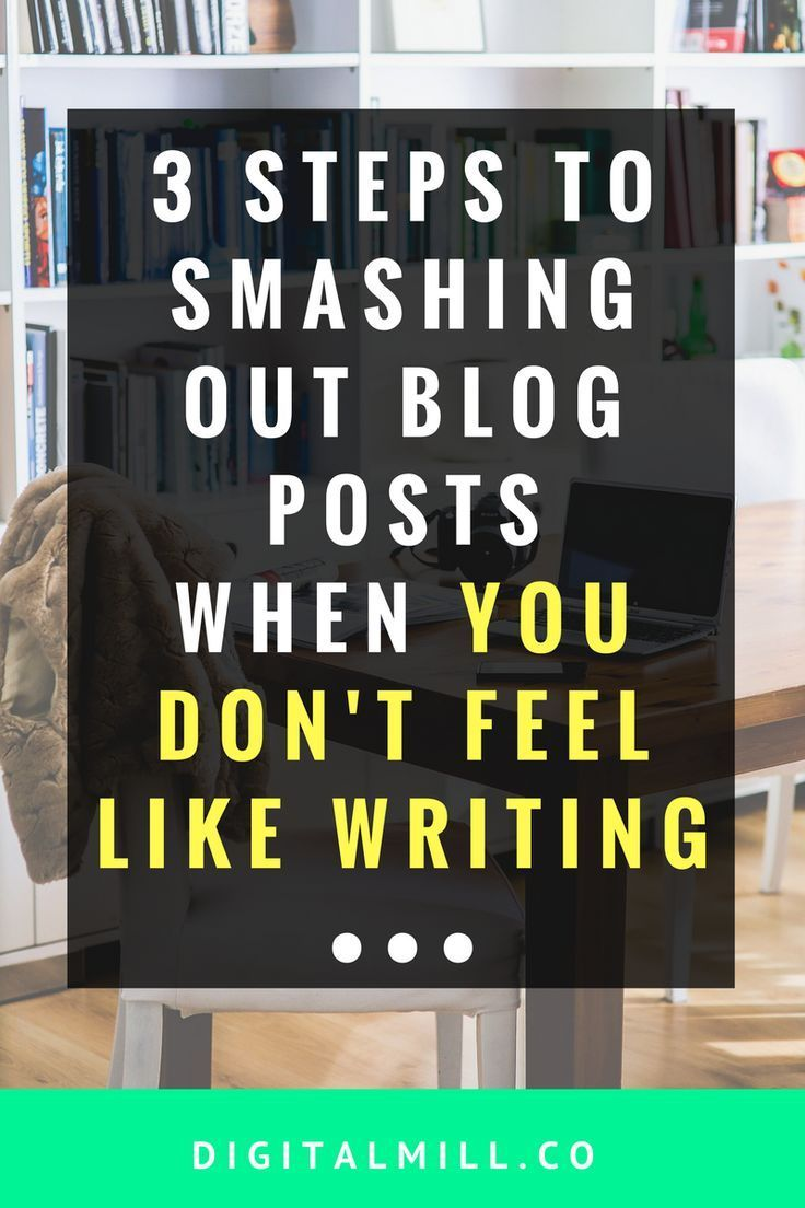 Overcome blogging writer's block and use these 3 steps to smash out blog posts even when you don't even feel like writing. Read now >>
