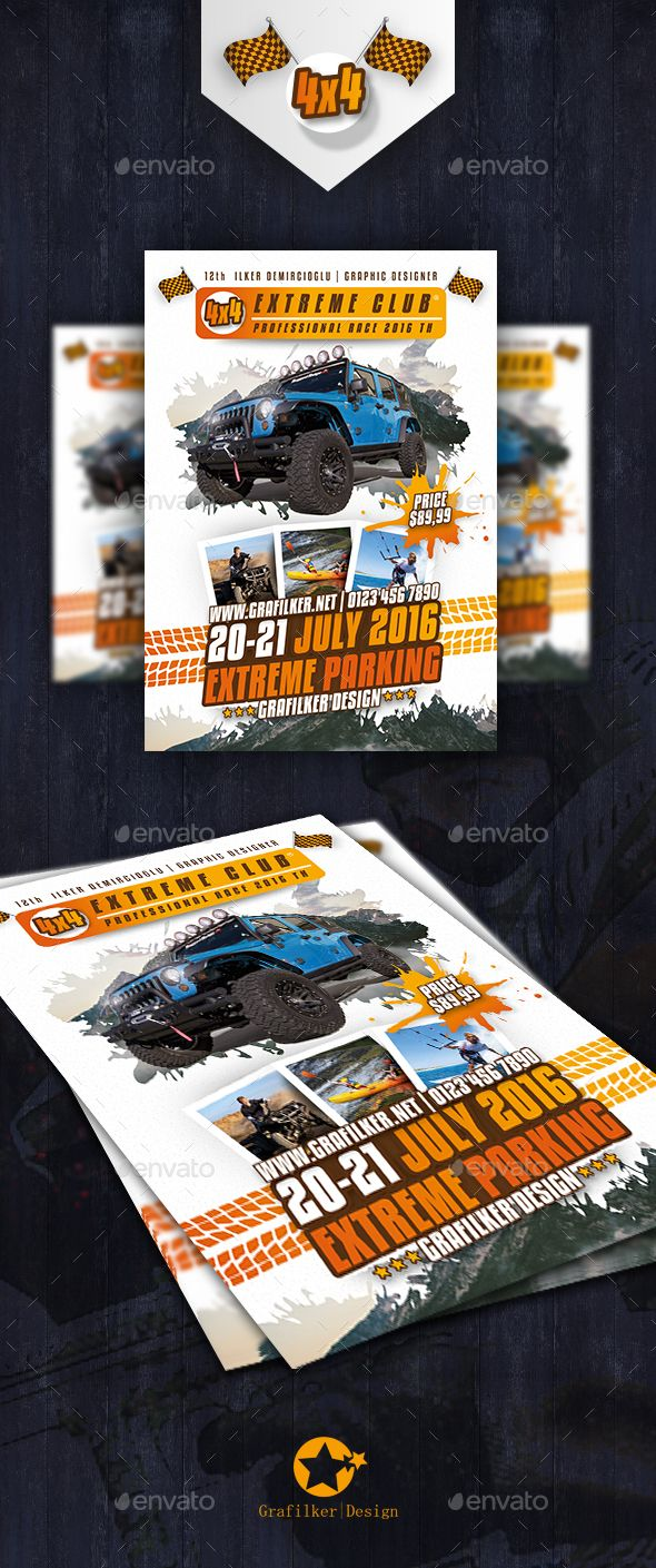 Extreme Sport Flyer Templates  Flyer Template Template And Event