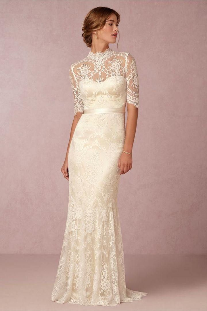 Vintage Lace Wedding Dresses From Bhldn Modwedding Half Sleeve Wedding Dress Lace Wedding Dress Vintage Short Sleeve Wedding Dress