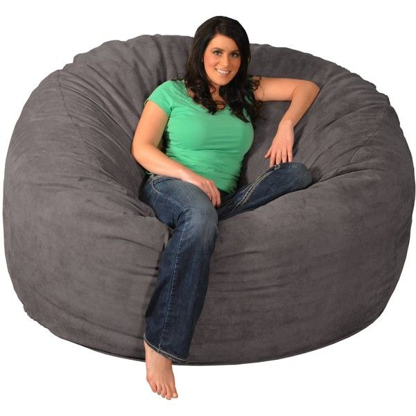 Giant Memory Foam Bean Bag 6 Foot Chair ($200) ❤ Liked On Polyvore