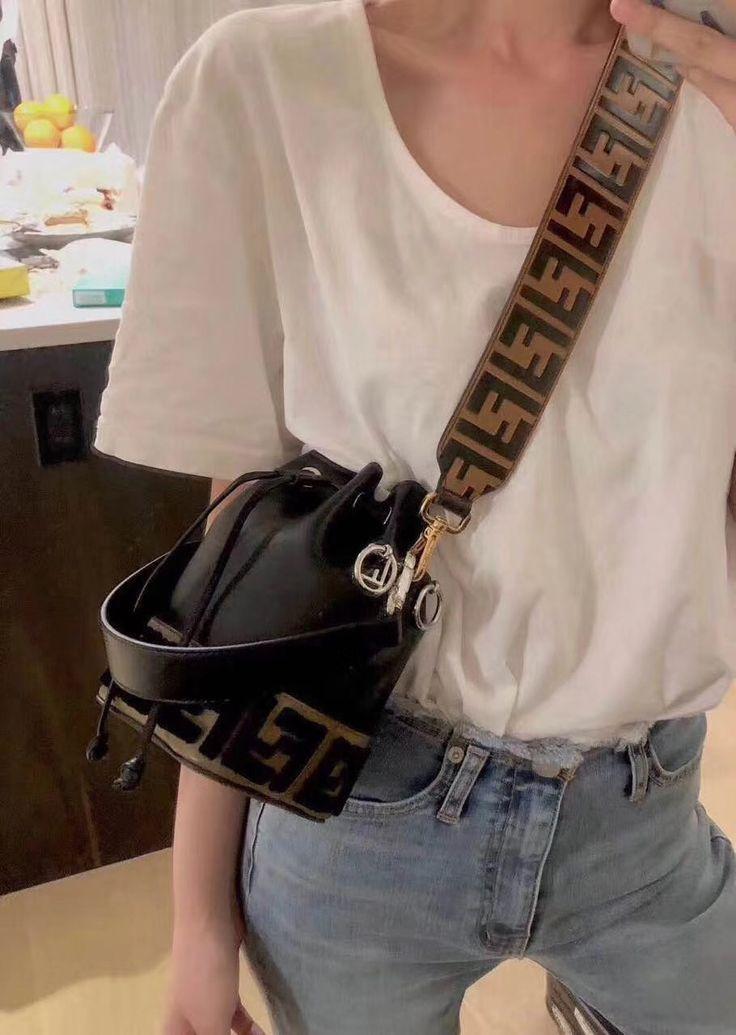 Fendi woman mini bucket bag FF embossed original leather version #bags