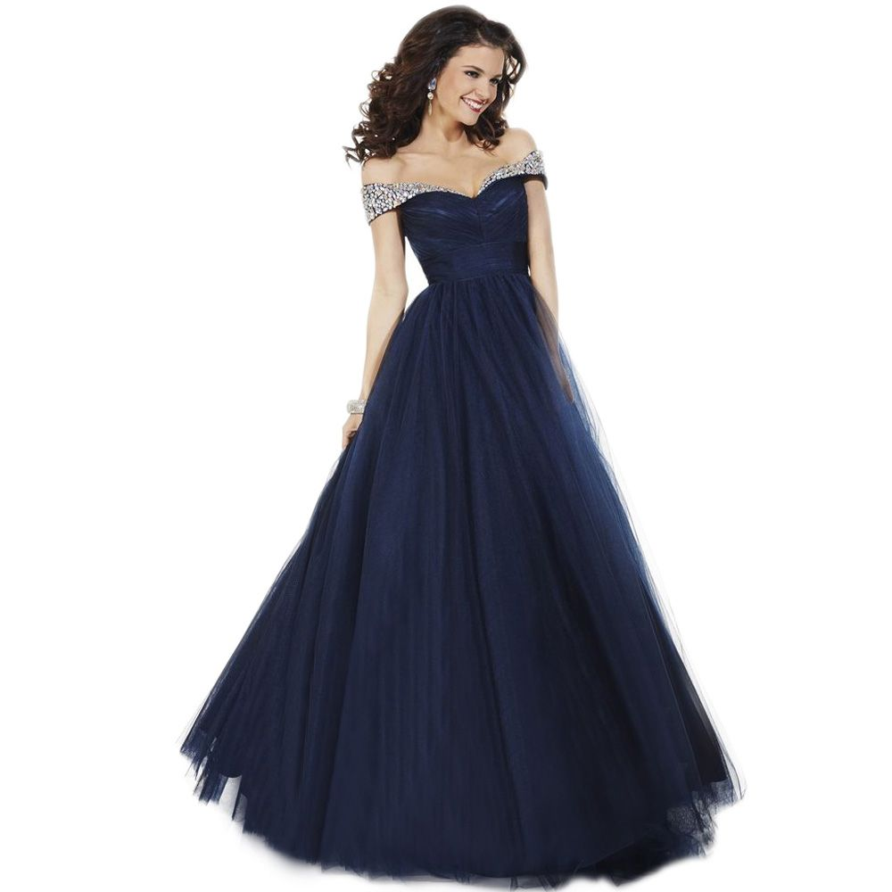 Find More Prom Dresses Information about Women A Line Tulle Off