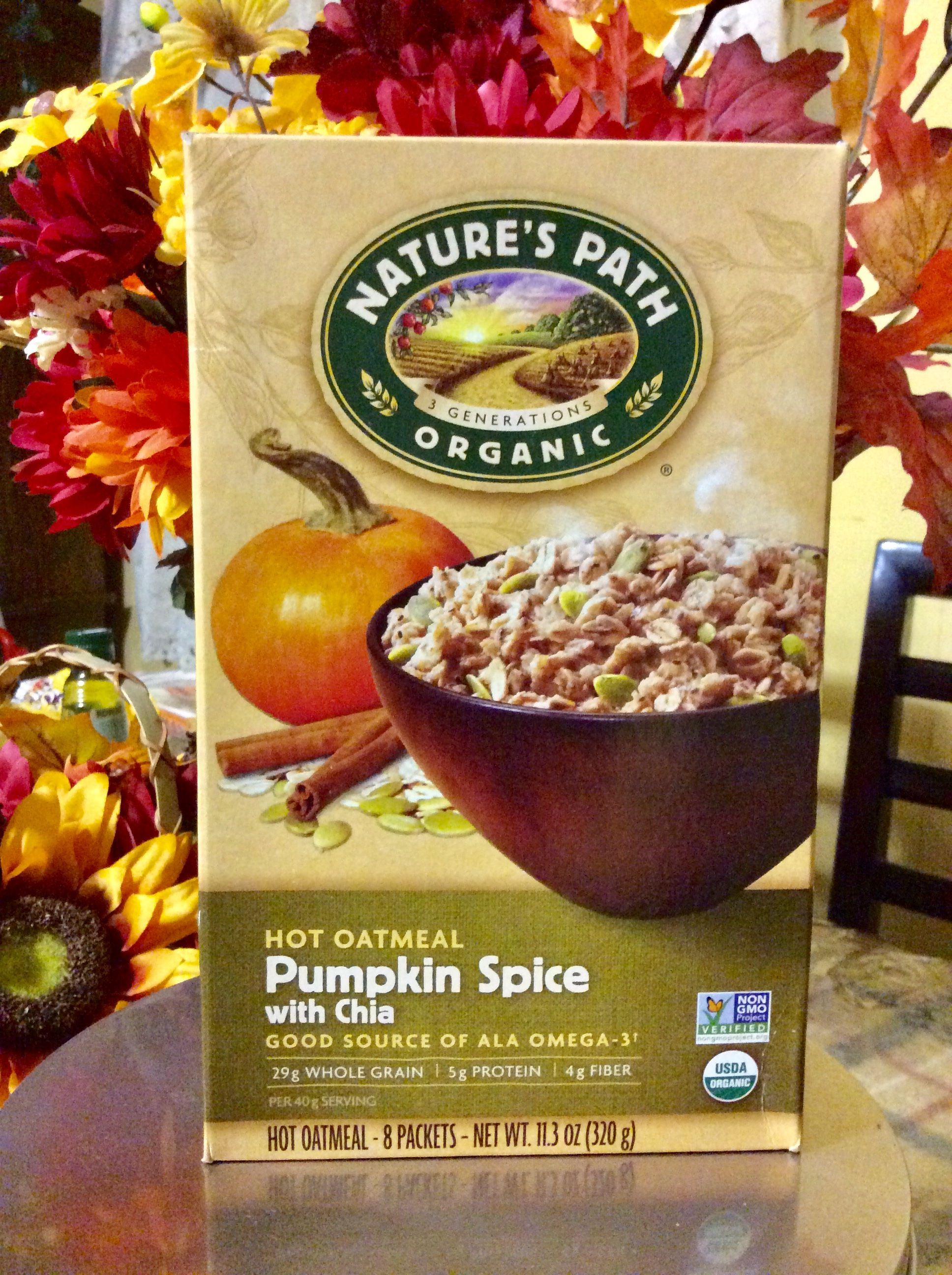Nature's Path Organic Pumpkin Spice With Chia Instant Oatmeal