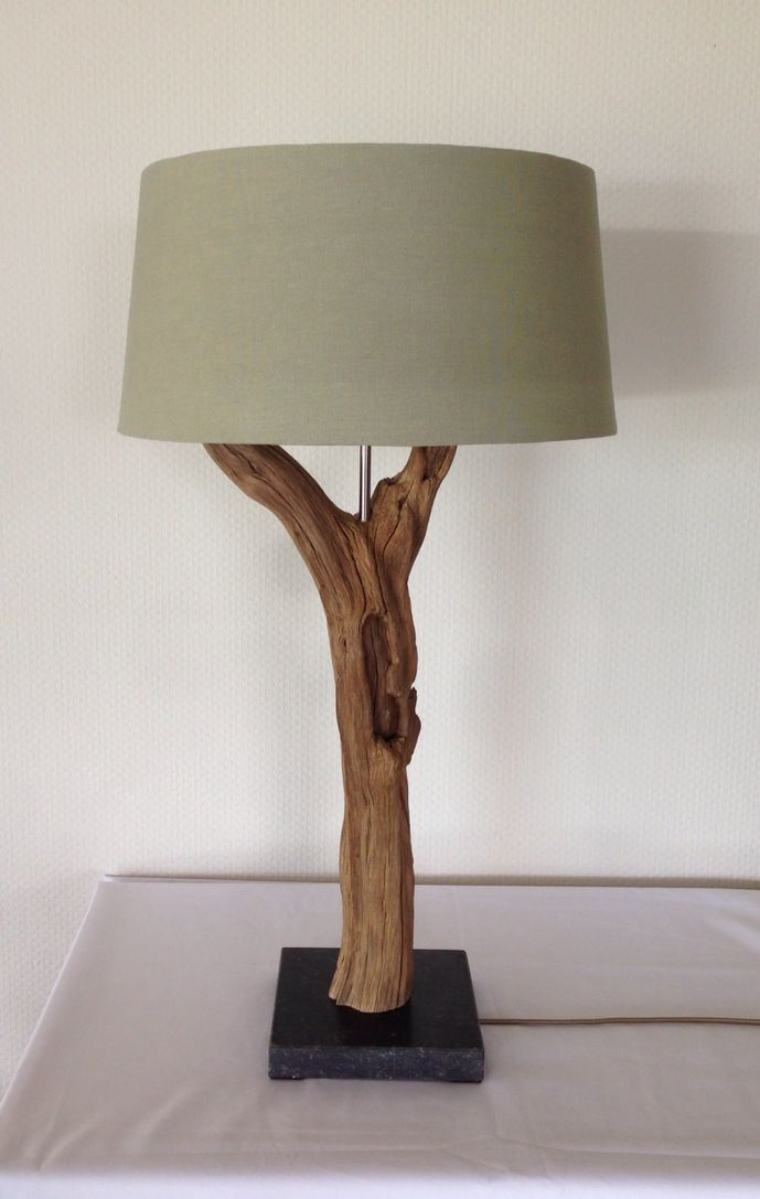 Table lamp manufacturing of weathered old oak trunk https www etsy table lampsbuffet lamps
